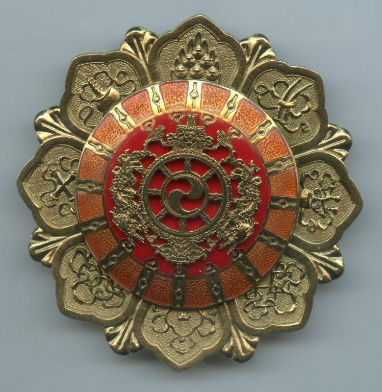 Bhutan Druk Gyalpo 1st Type breast star.jpg