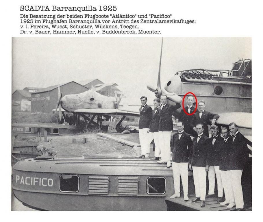 Hans Wilkens vor dem Zentralamerikaflug mit den Dornier Wal Flugbooten Atlantico und Pacifico.jpg