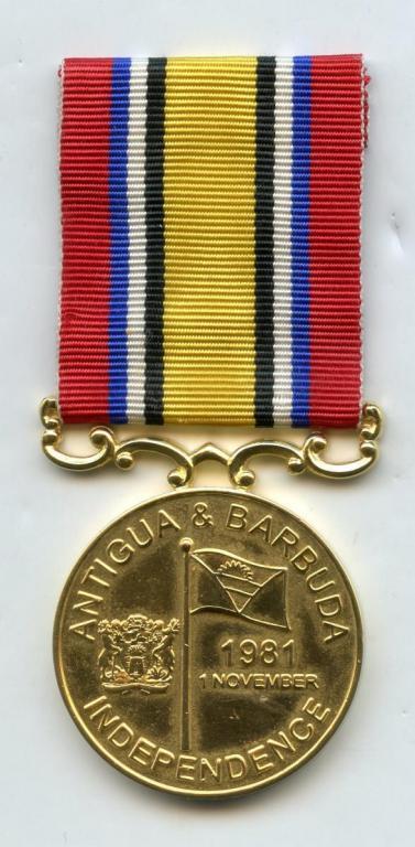 Antigua & Barbuda Medal for Independence 1981 obverse.jpg