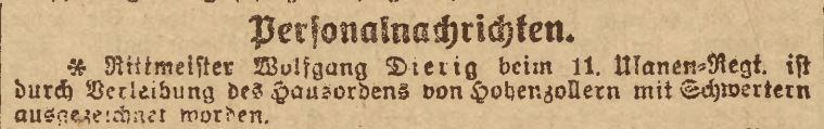 Dierig, Wolfgang - Rittm dR (Schlesische Zeitung Nr 555 - 29.10.1918).JPG