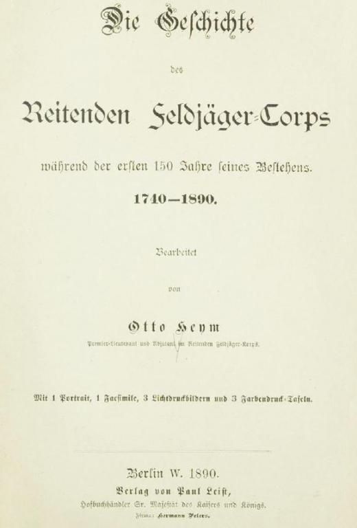 Geschichte des reitenden Feldjägerkorps Titel.JPG
