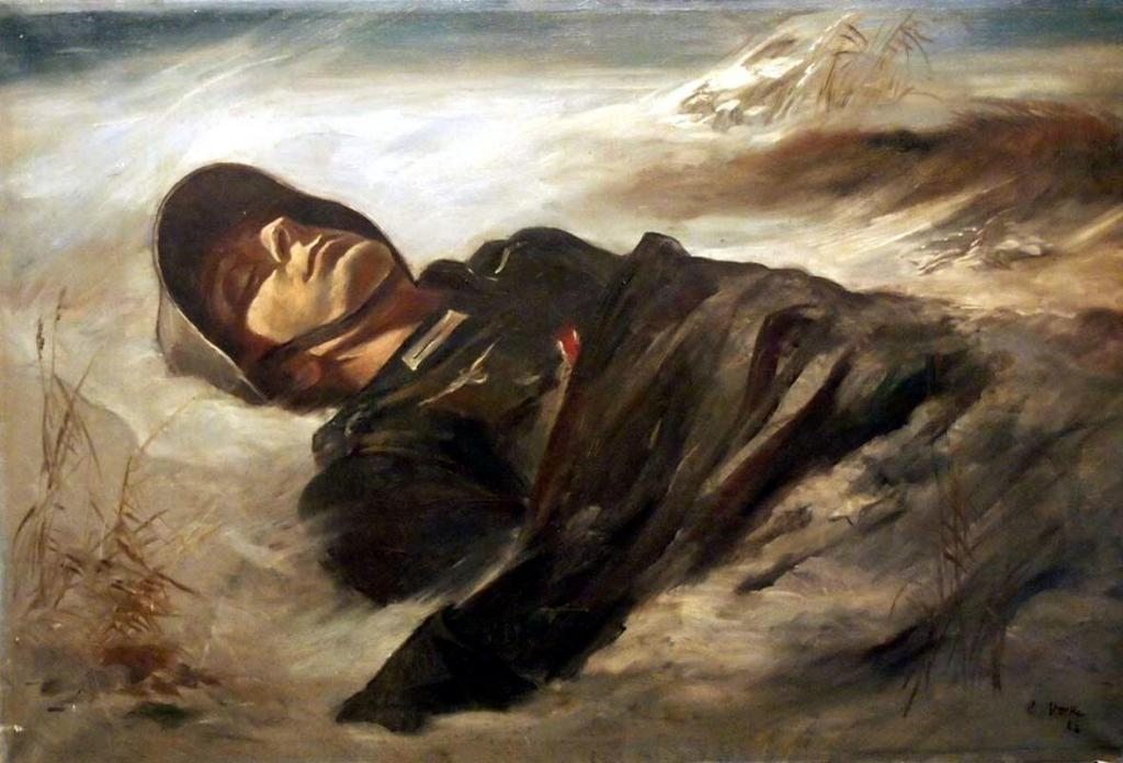 Gefallener_Soldat_in_Schneelandschaft,_Ölgemälde_von_Carolus_Vocke,_1942.jpg