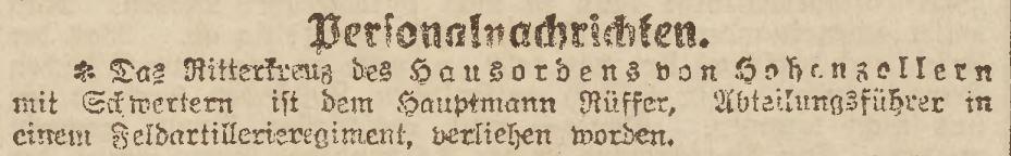 Ruffer, Hptm dR (Schlesisce Zeitung Nr 576 - 10.11.1918).JPG