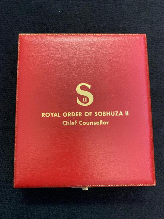 Swaziland Order Sobhuza Ii Chief Counselor Case of Issue.JPG