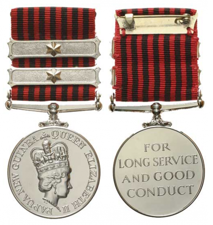 Papua New Guinea Civil LSGC Medal with 2 additional Long Service Bar Lot 3663.jpg.png
