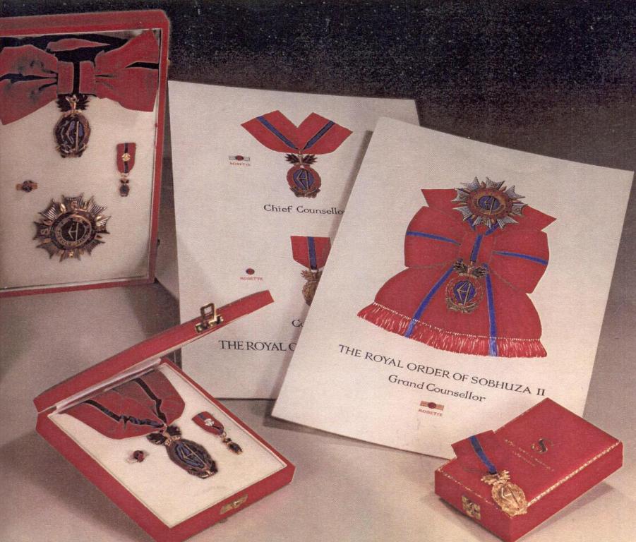 Swaziland Order of Sobhuza II all 3 Classes.jpg