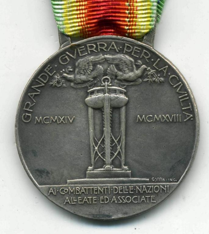 Италия Тип 2б Официальный посеребренный медальон рев.jpg