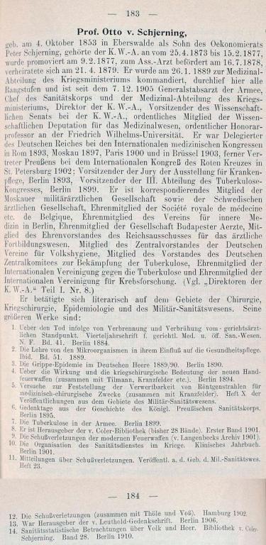 Otto von Schjerning, Stammliste der Kaiser Wilhelms-Akademie für das militärärztliche Bildungswesen, 1910.jpg