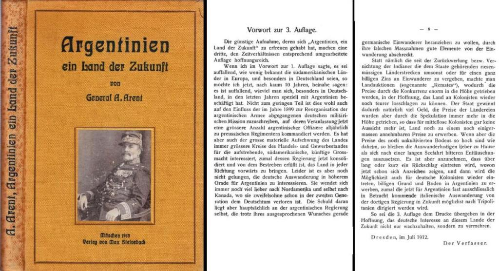 Argentinien, ein Land der Zukubft von General in argentinischen Diensten Alfred Arent, 3. Auflage 1913.jpg