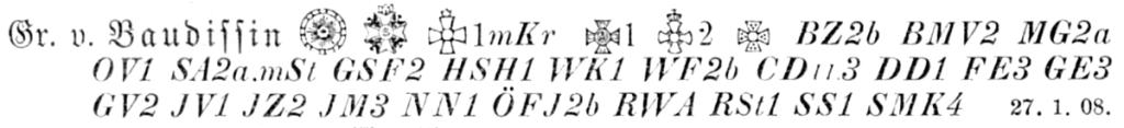 Baudissin, Friedrich Graf von, Rangliste 1914.png